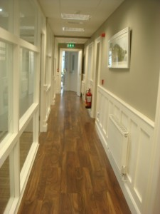 Office circulation corridor, Ardee